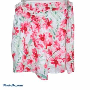 LEITH FLORAL SHORTS TROPICAL CASUAL DRESS